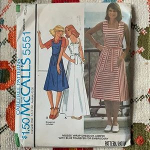 Vintage McCall's Dress Sewing Pattern
